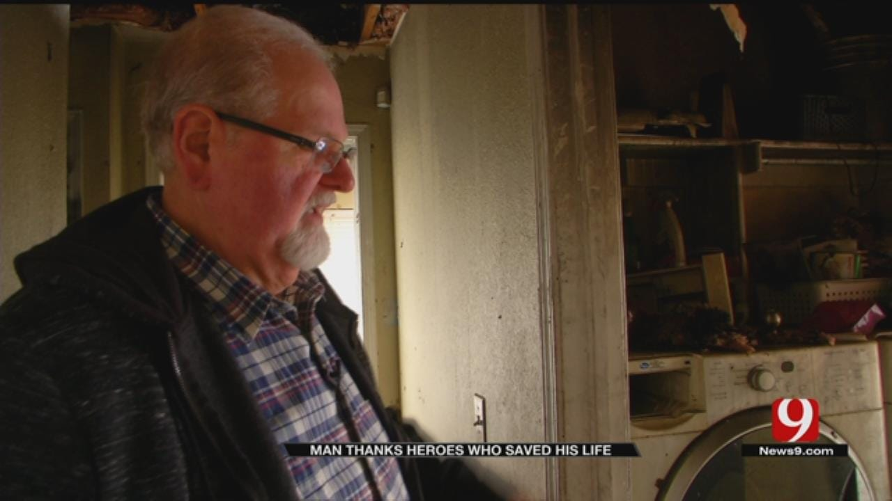 Man Thanks Norman Firefighters, ADT For Saving His Life