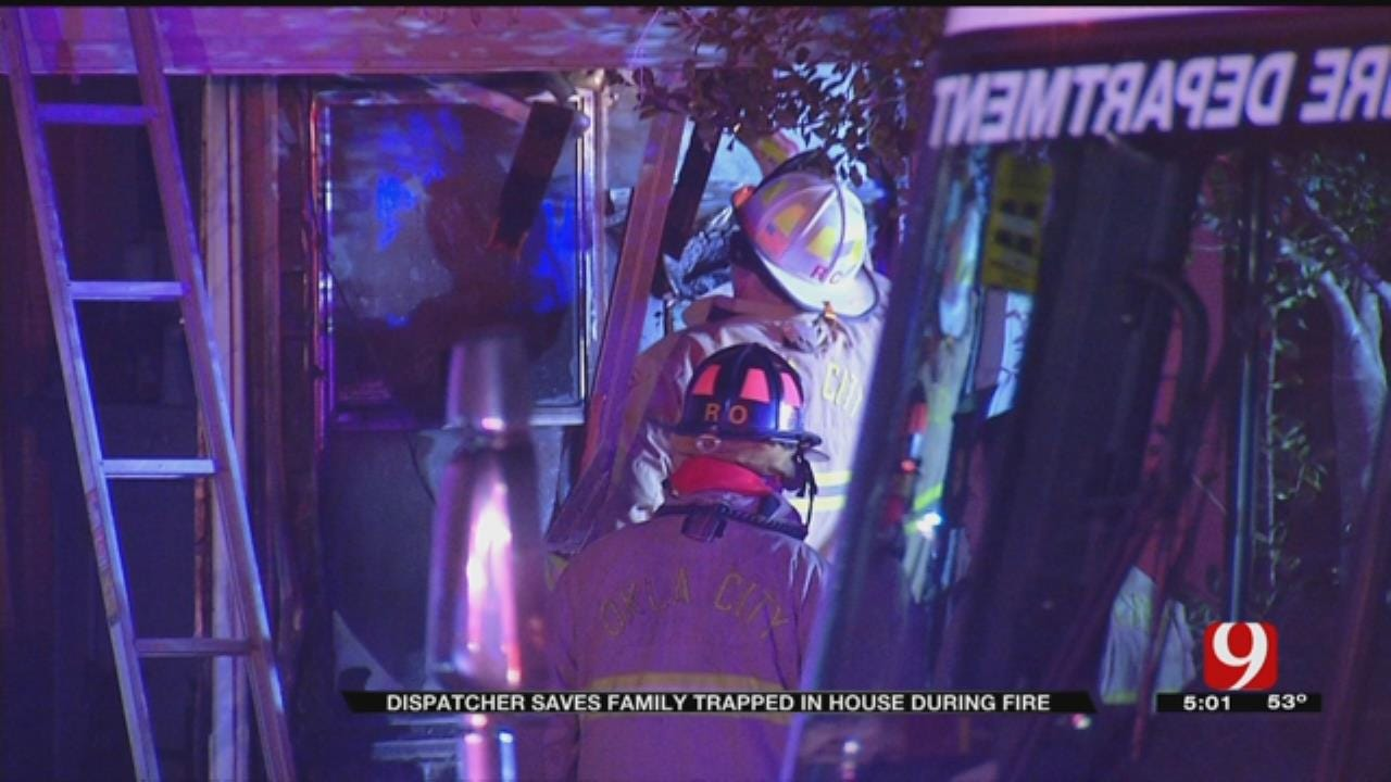 Dispatcher Helps Save Family Trapped In NW OKC House Fire