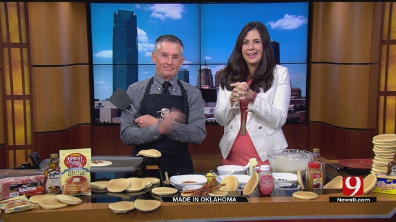 Made In Oklahoma: Cornmeal Pancakes & Syrup