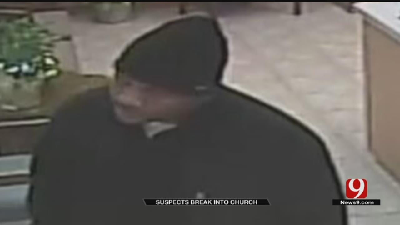 Surveillance Video Captures Man Breaking Into MWC Church