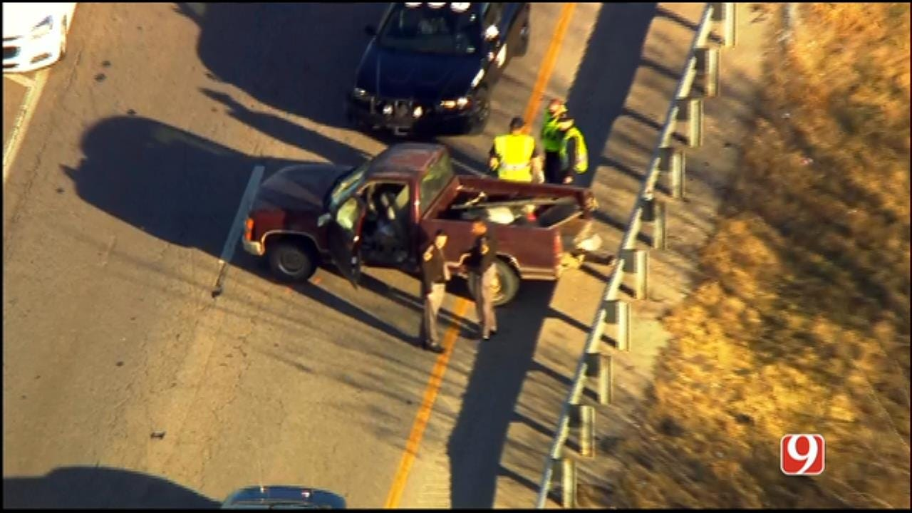 WEB EXTRA: SkyNews 9 Flies Over End Of Chase, Crash On WB I-40