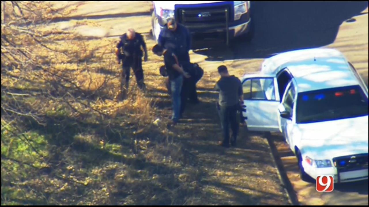 WEB EXTRA: SkyNews 9 Flies Over Manhunt, Arrests In Guthrie