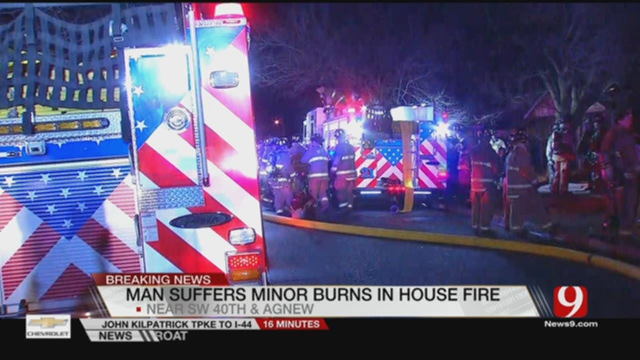 Man Injured In SW OKC House Fire
