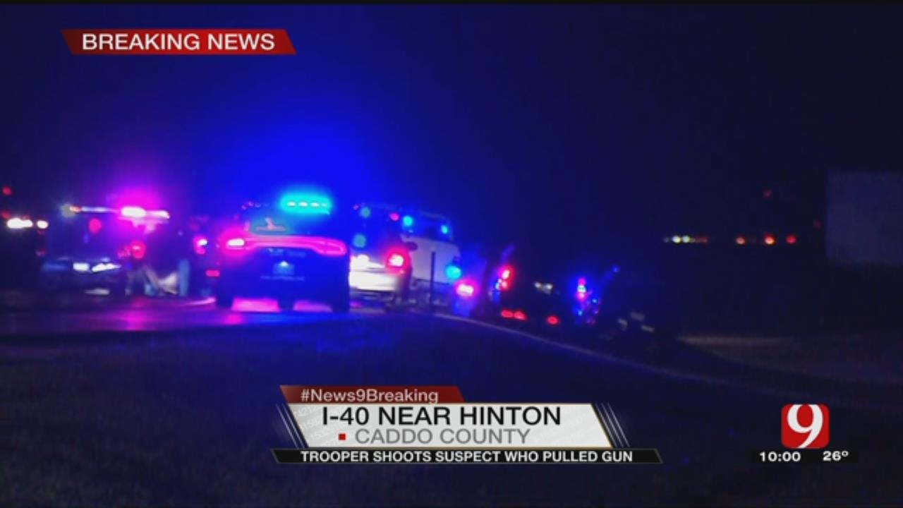 Law Enforcement Investigating Officer-Involved Shooting On I-40