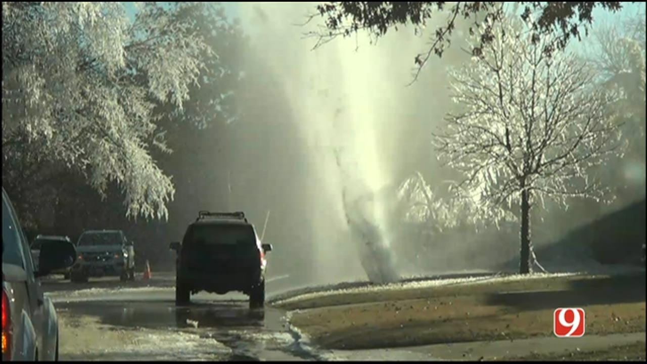 WEB EXTRA: Water Main Breaks In The Village