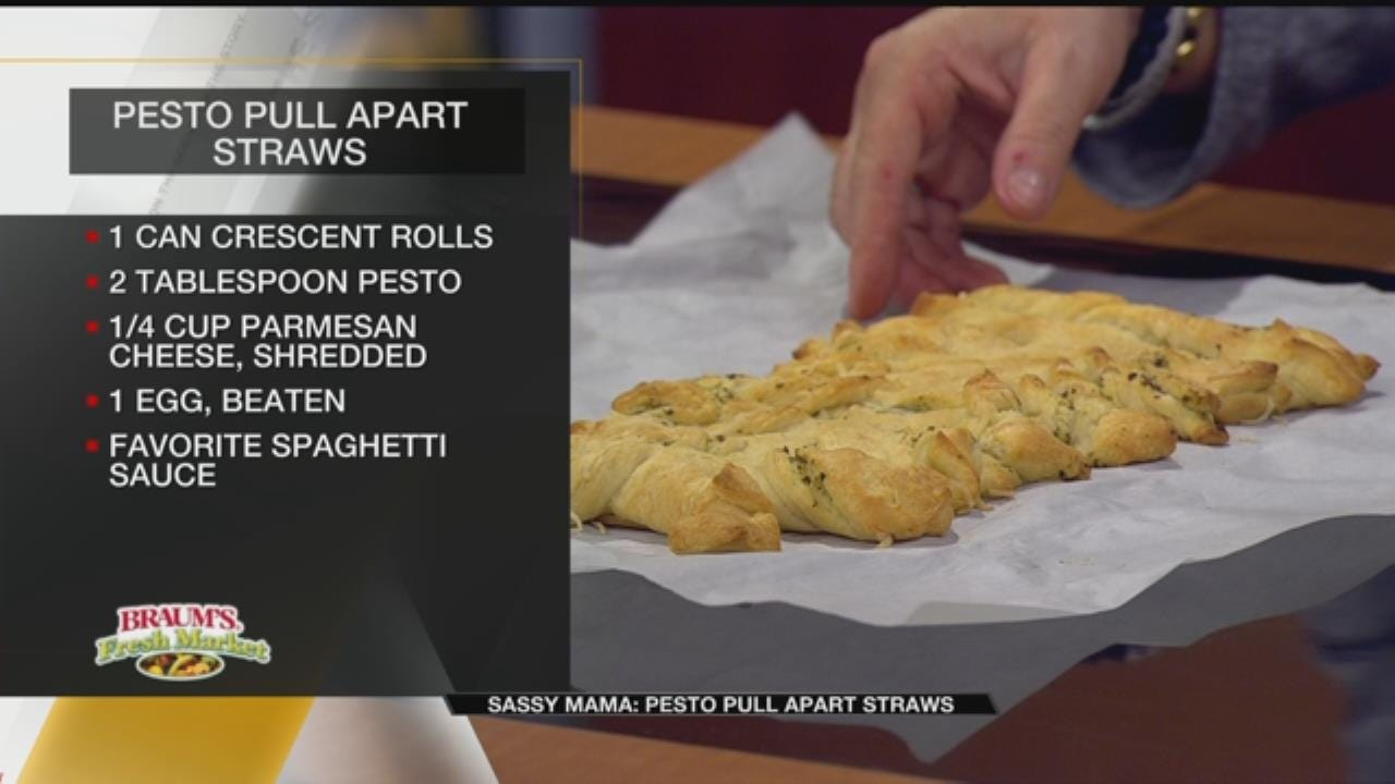 Pesto Pull Apart Straws