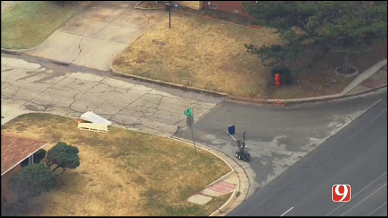 WEB EXTRA: SkyNews 9 Flies Over Suspicious Package Investigation In SW OKC