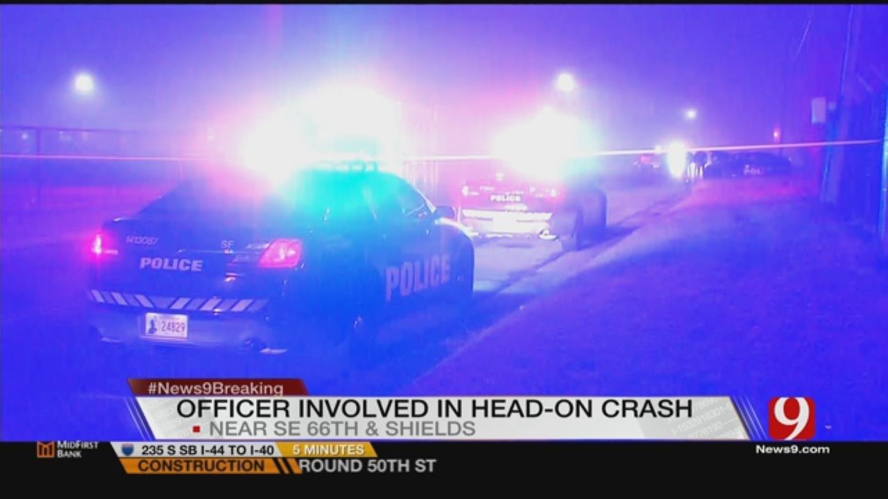 Vehicle Crashes Head-On Into OKC Police Cruiser