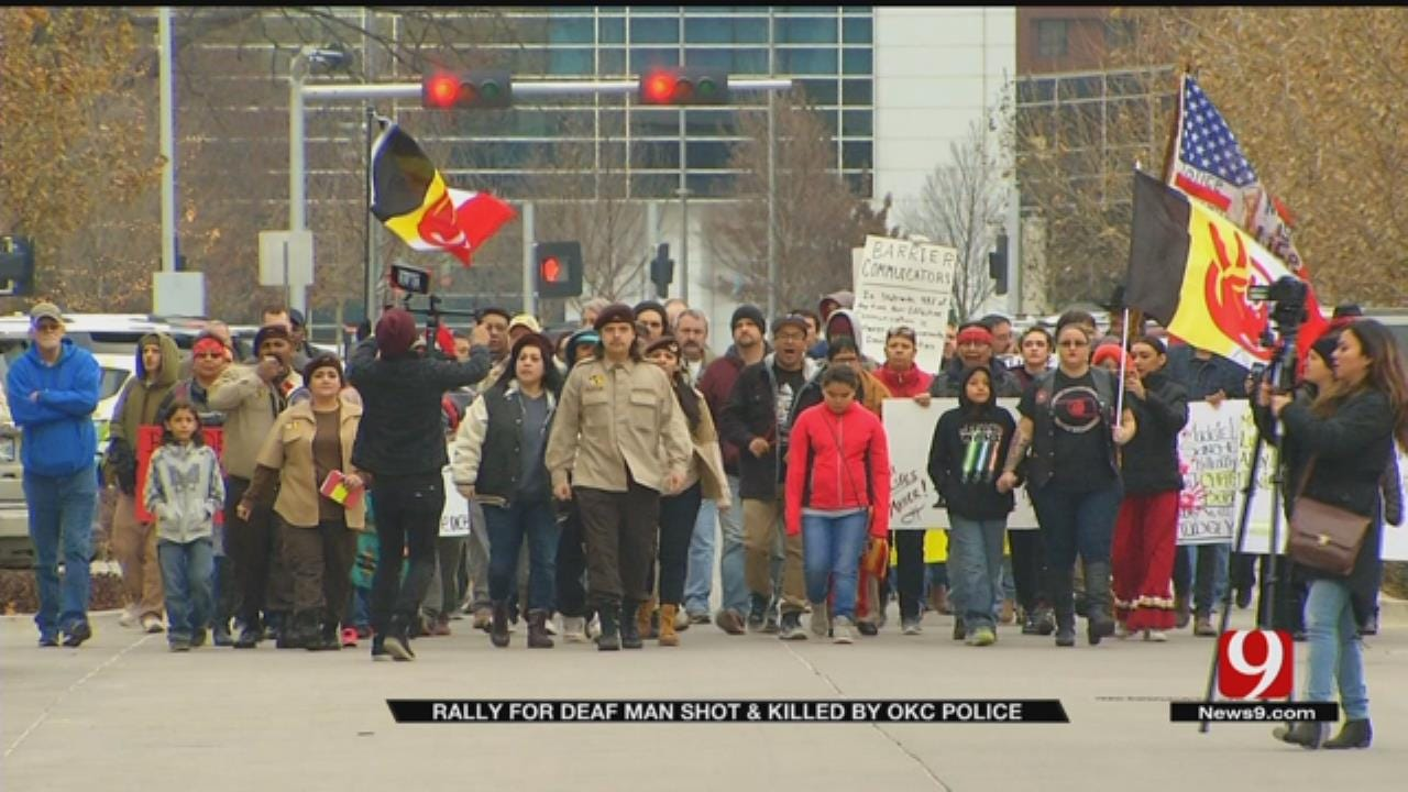 Protesters March For Magdiel Sanchez