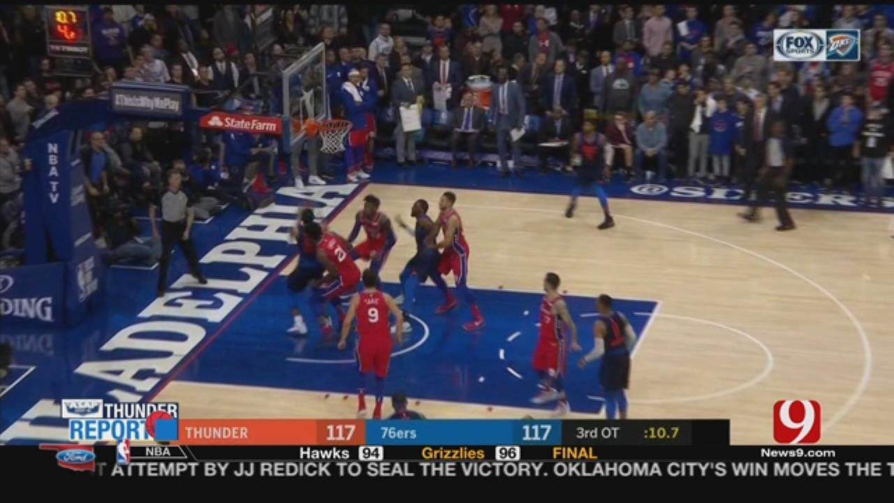 Westbrook Triple-Double Keys OKC In 3OT Thriller Vs. 76ers