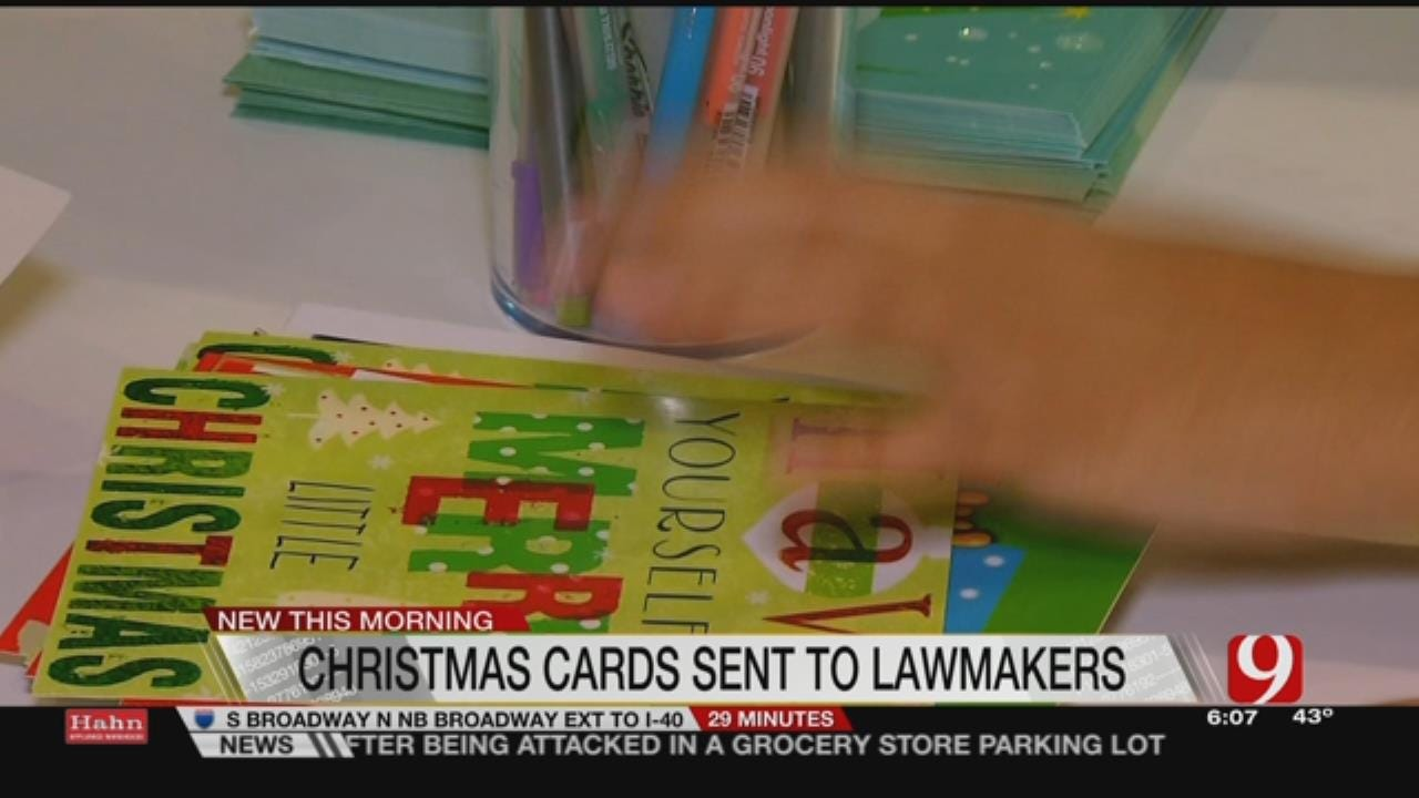 Group Sends Holiday Cards To Legislators