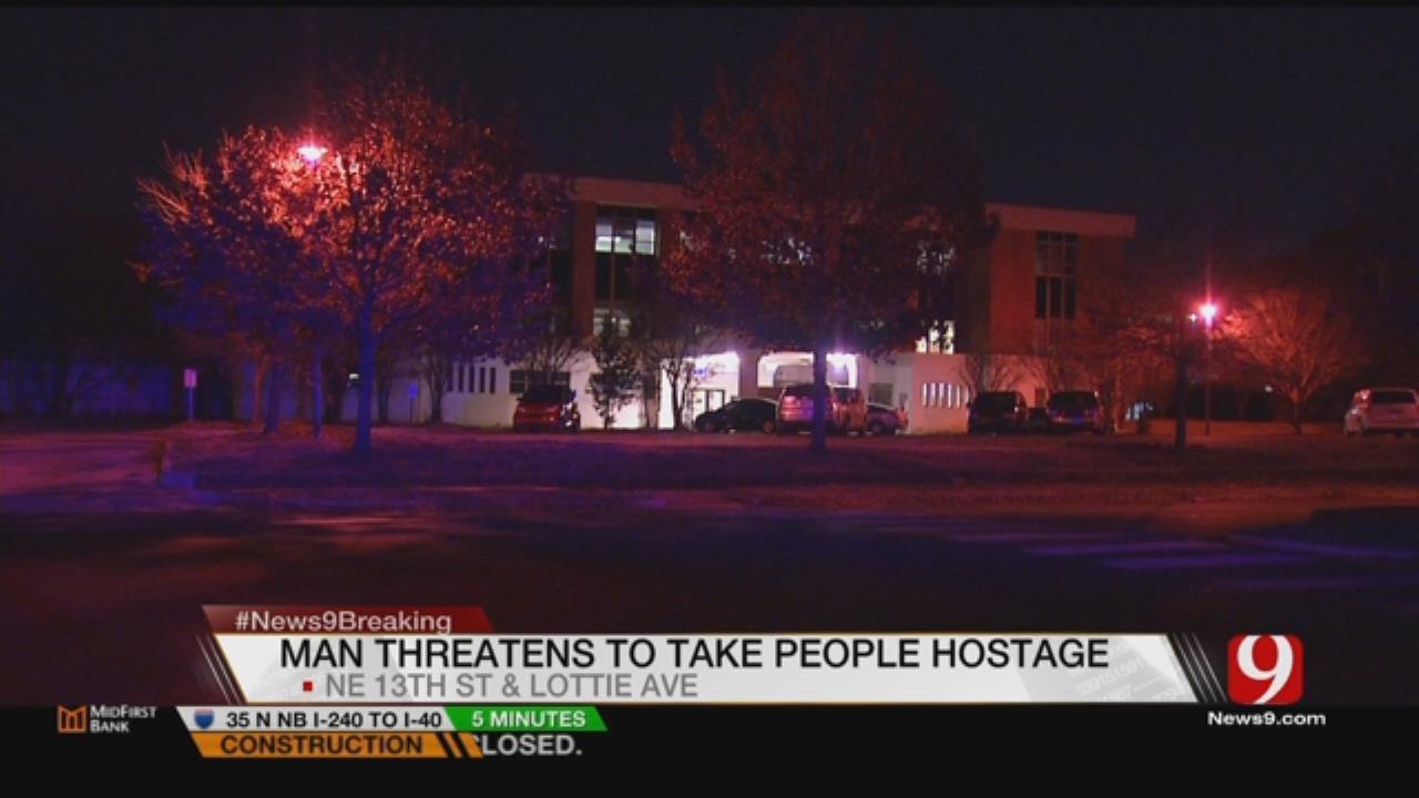Knife-Wielding Man Arrested In NE OKC