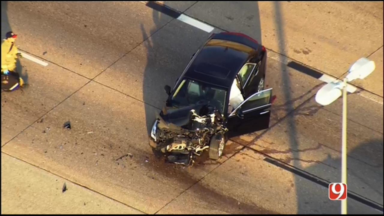 WEB EXTRA: Bob Mills SkyNews 9 Flies Over Injury Crash In NW OKC
