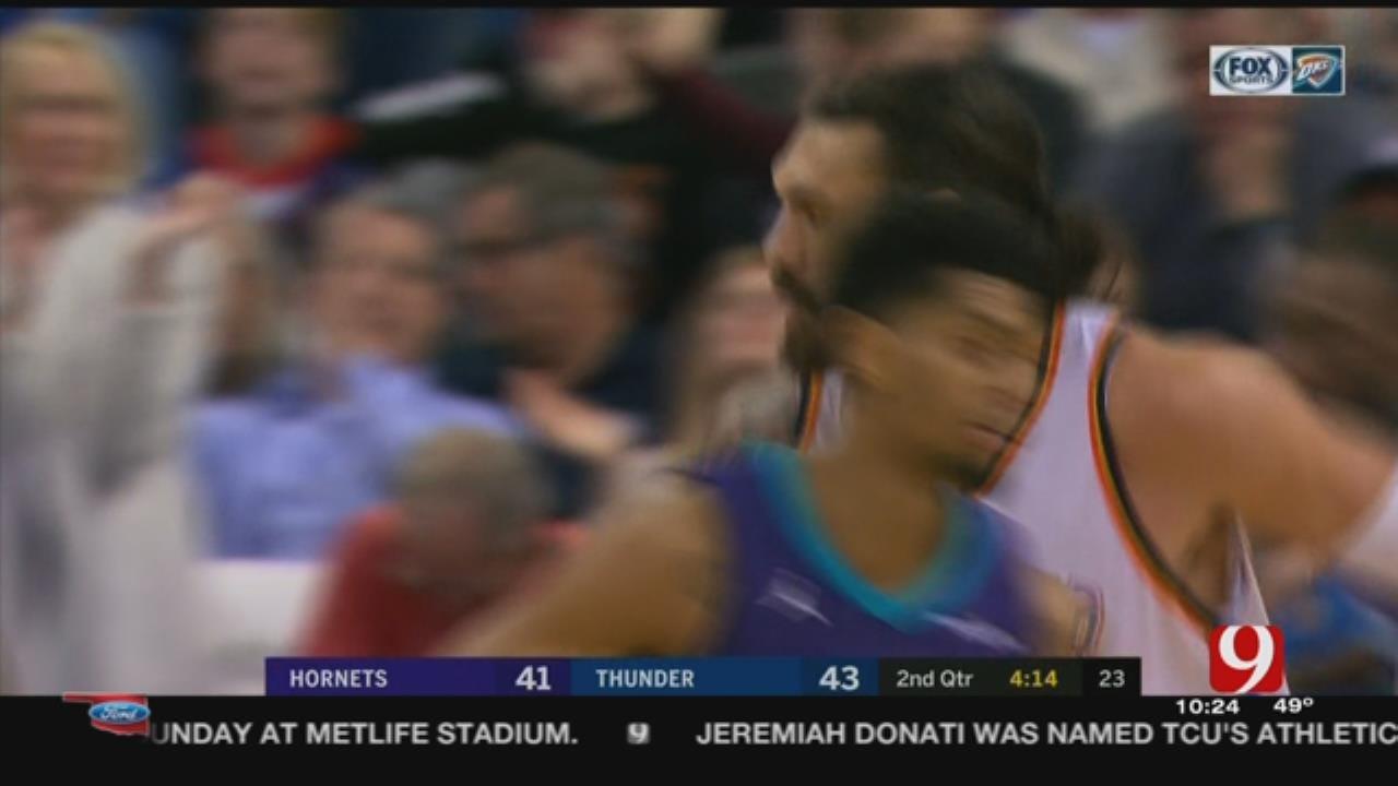 Howard's 23 Points Lead Hornets Past Thunder