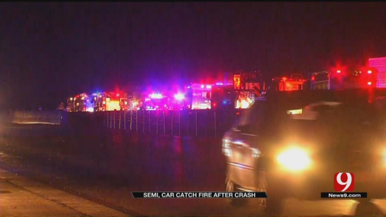Emergency Crews Respond To Fiery Crash On NB Kilpatrick Turnpike