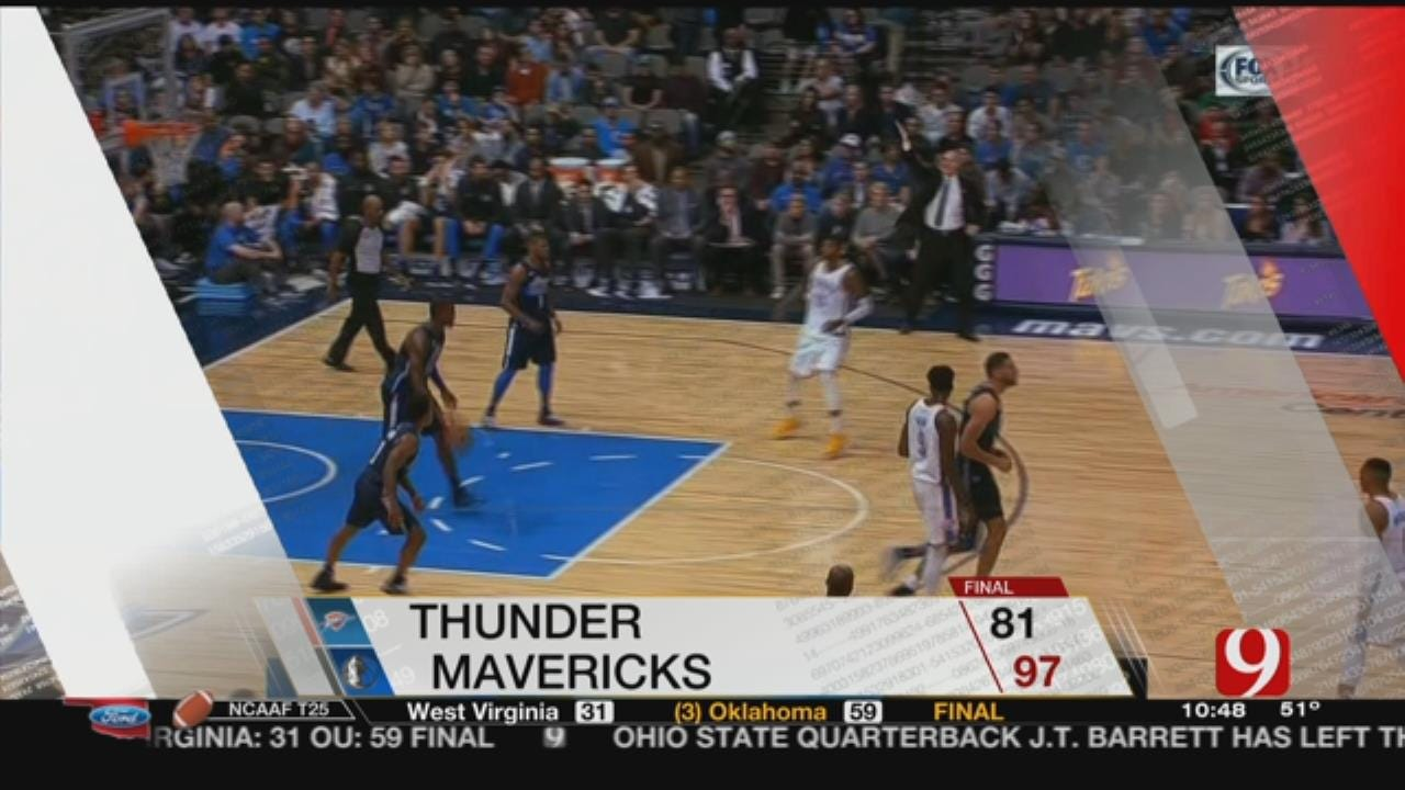 Thunder Lose 97-81 To Dallas, Their 4th Loss In 5 Games