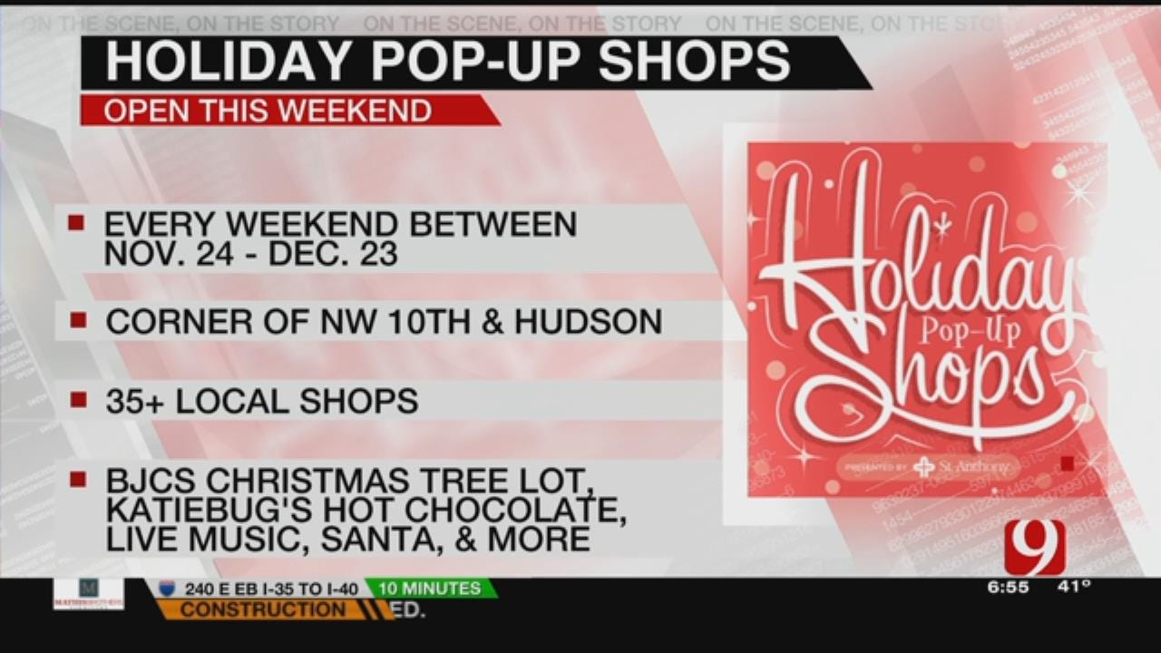 Christmas Tree Lot Opens At The Holiday Pop-Up Shops