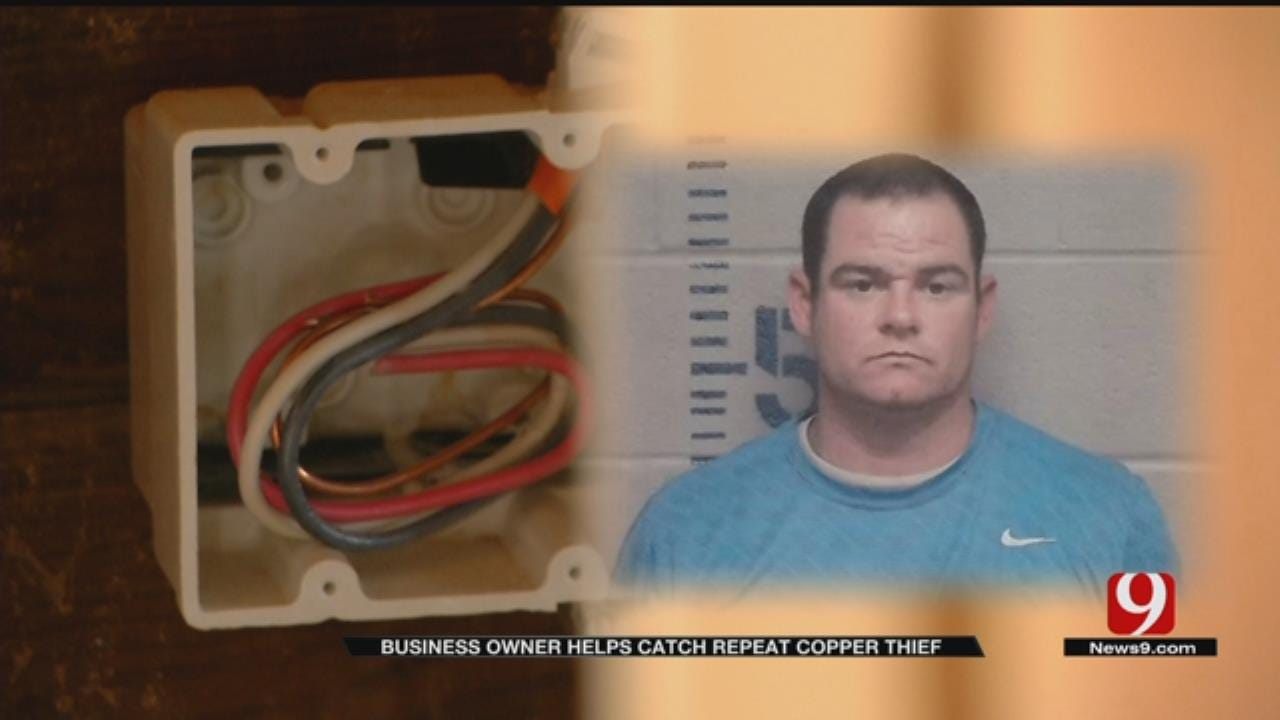 Guthrie Business Owner Catches Copper Thief