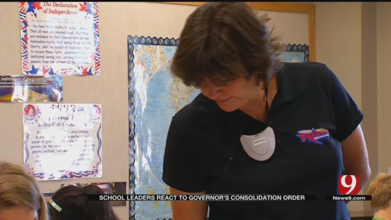 Educators React To Fallin's Consolidation Order