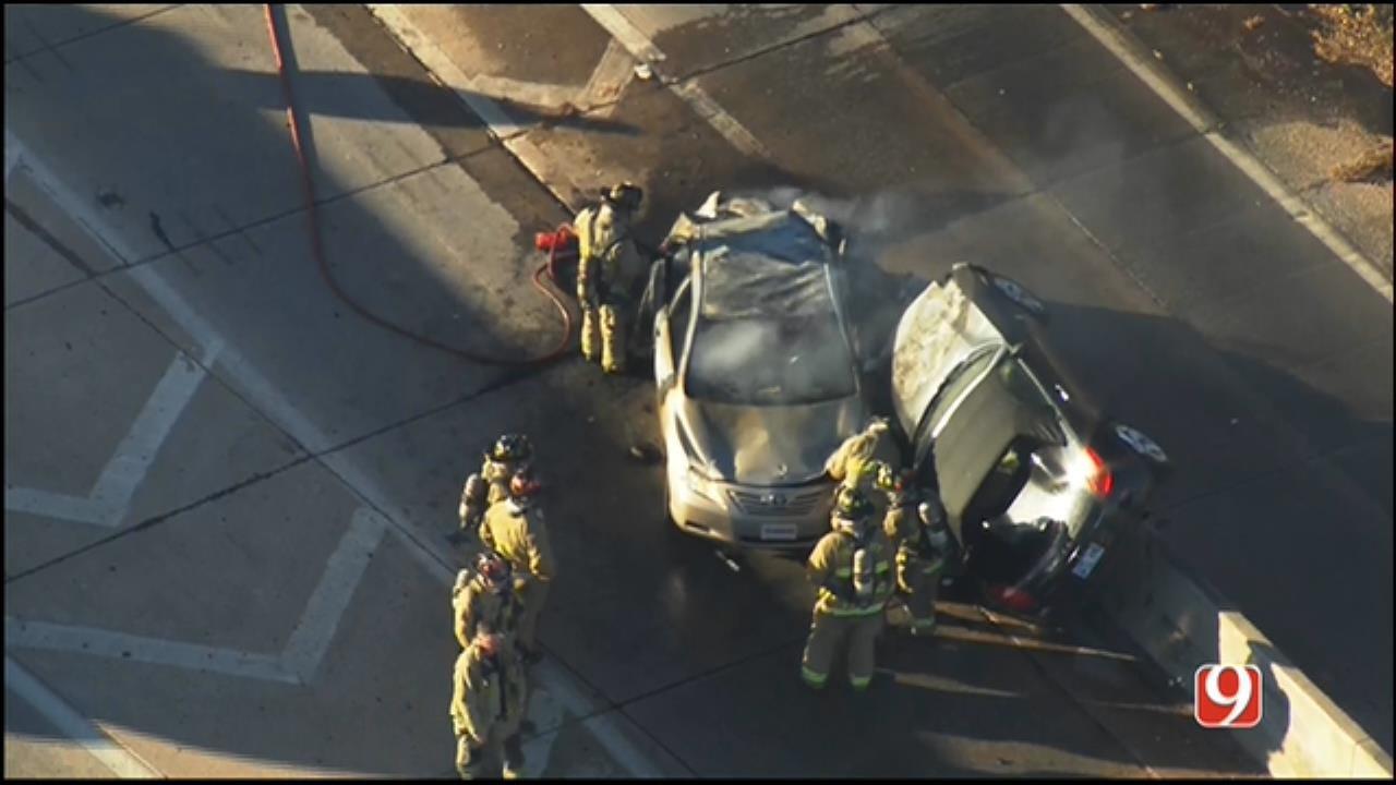 WEB EXTRA: SkyNews 9 Flies Over Multi-Vehicle Crash On WB I-44