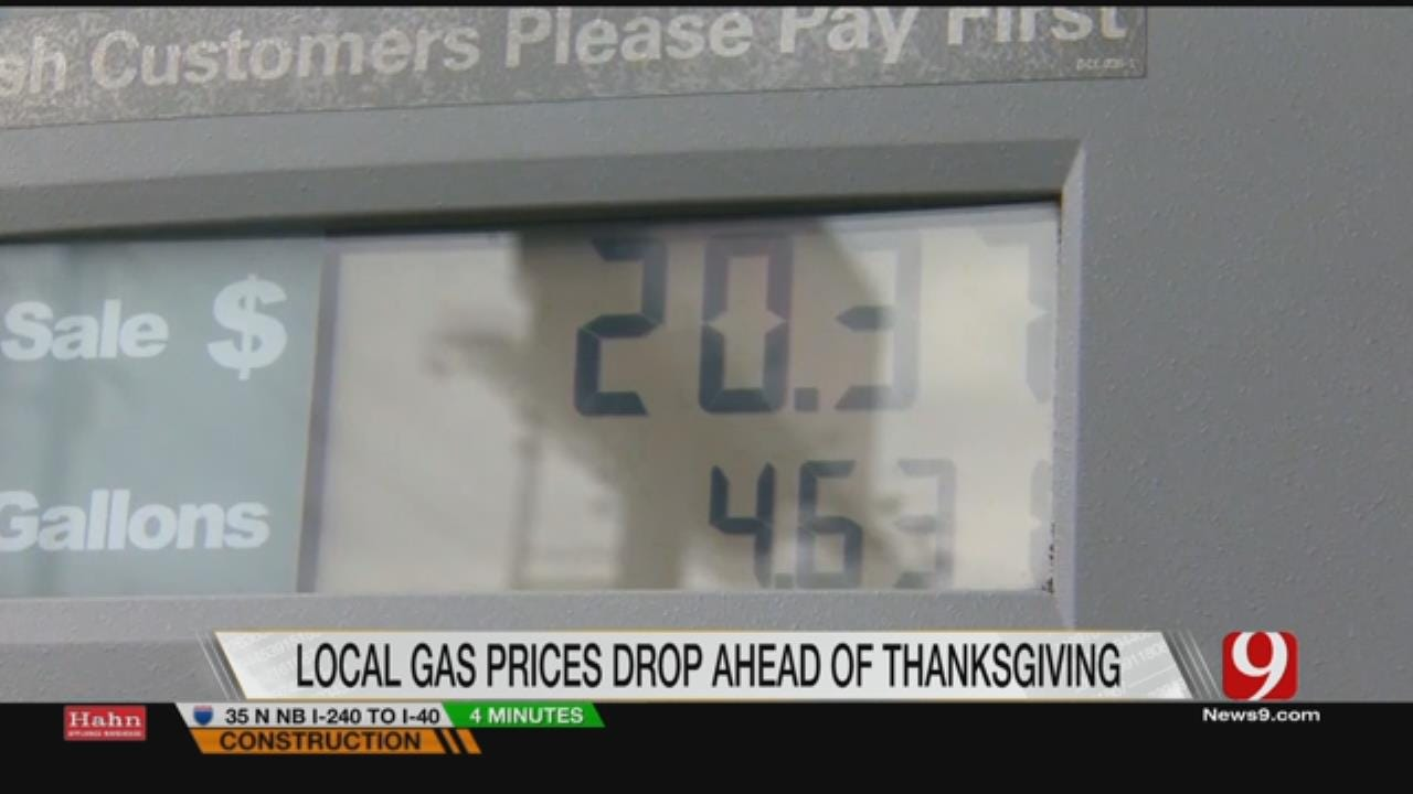 Gas Prices Drop Before Thanksgiving Holiday