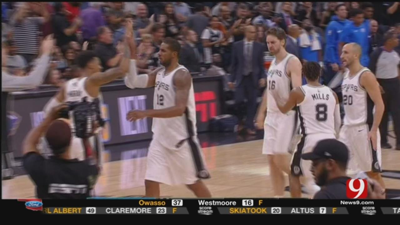 Thunder Collapses, Blows 23-Point Lead In San Antonio