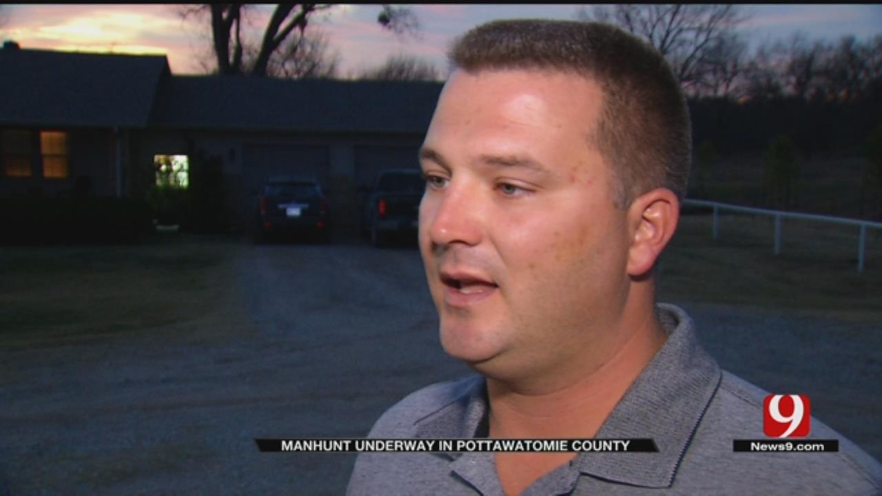 Manhunt Underway in Pottawatomie County