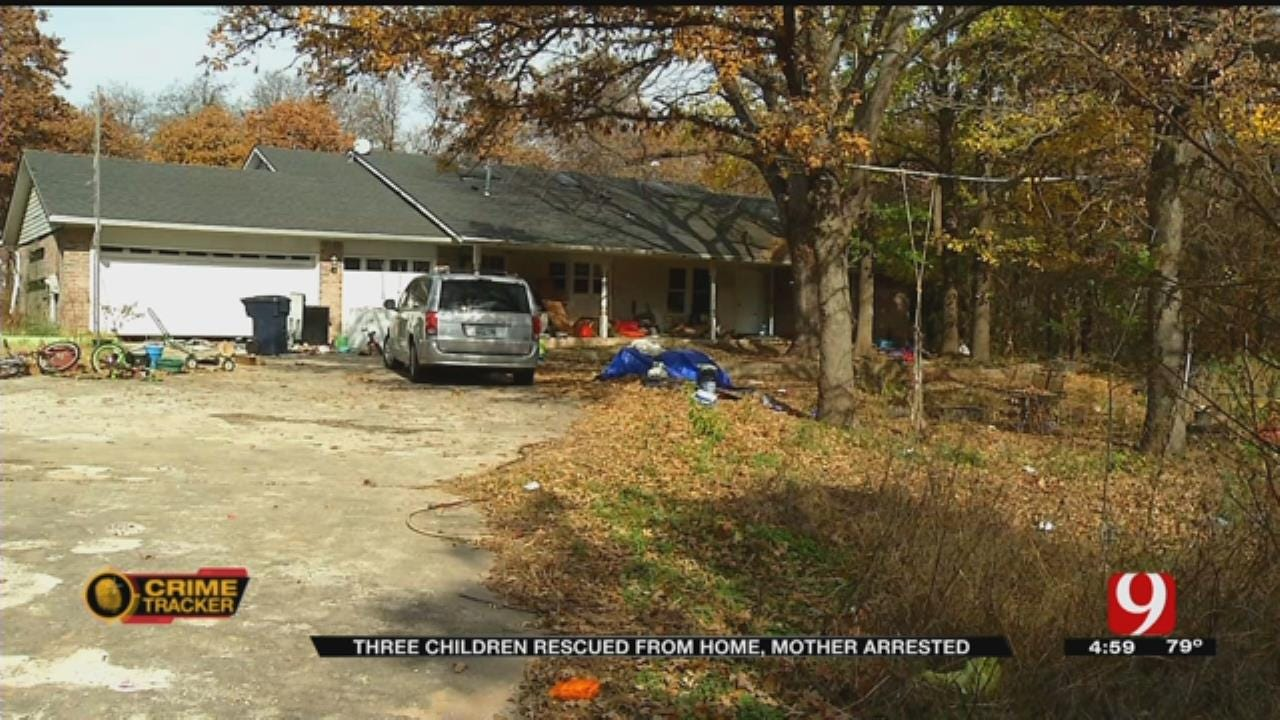 Three Children Rescued From Home, Mother Arrested