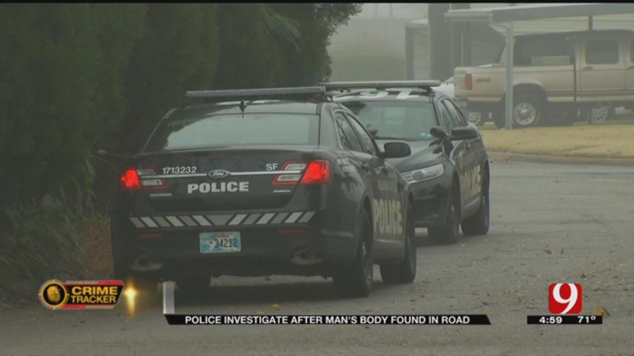 Police Investigate After Man's Body Found In Road
