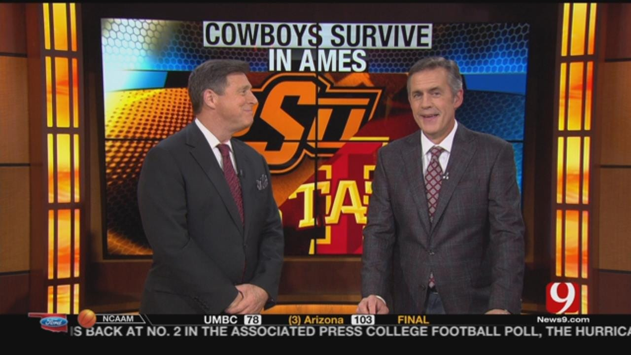 Cowboys Stave Off Cyclones To Remain In Big 12 Hunt