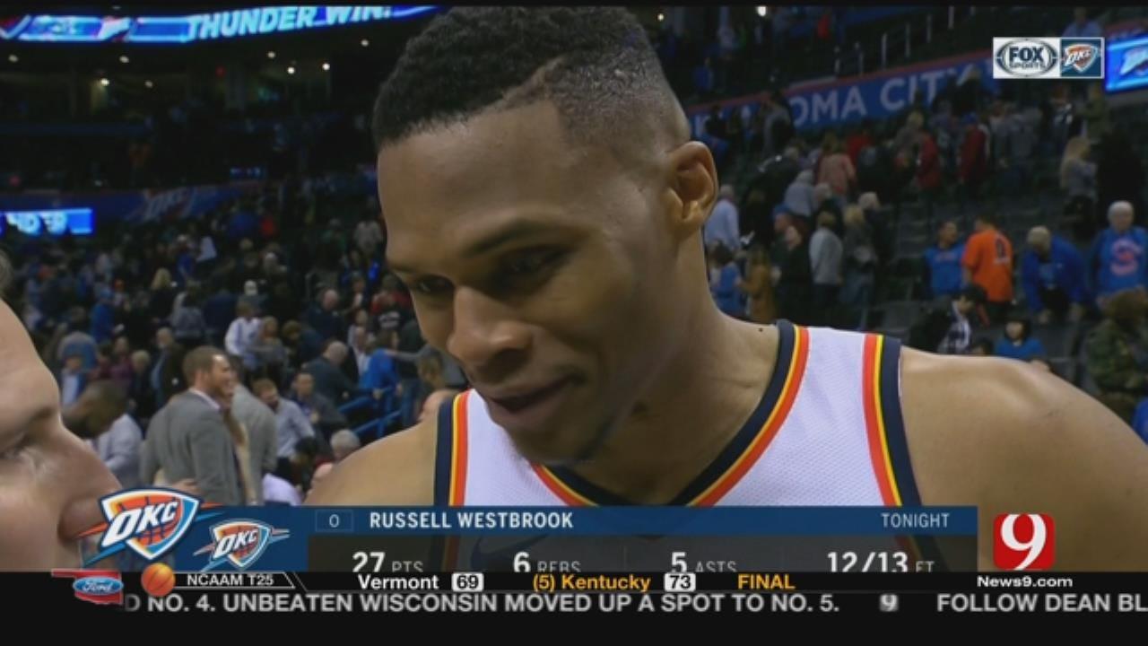 Thunder Defeats Dallas On Westbrook's Birthday