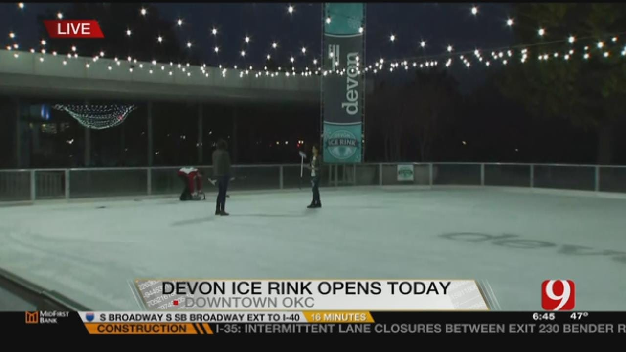Devon Ice Rink Opens For Holiday Season