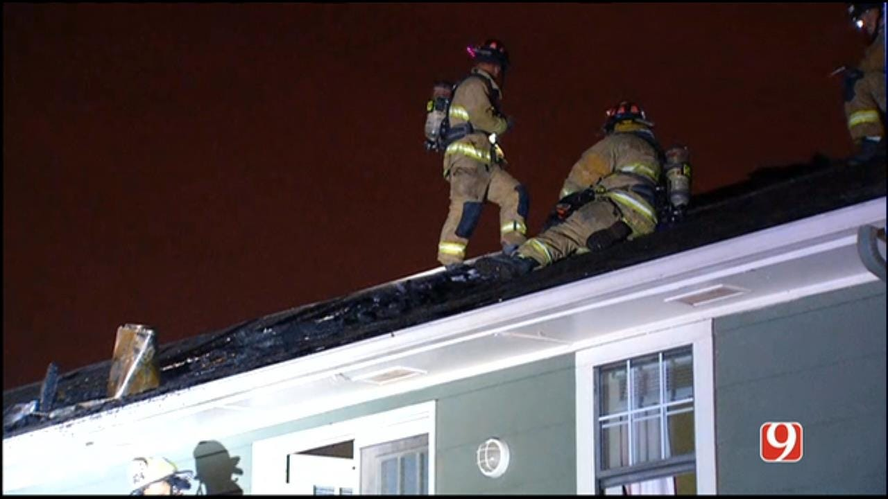 WEB EXTRA: Crews Work To Get A Handle On Apartment Fire