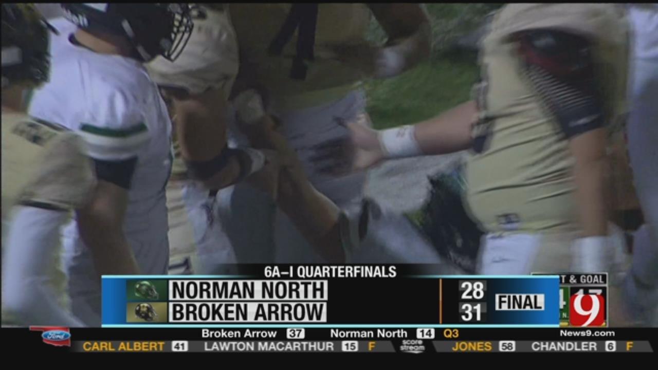 Norman North 28 at Broken Arrow 31