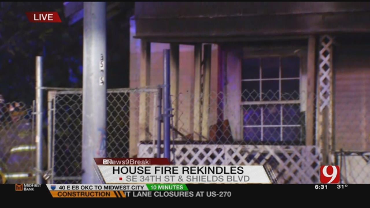 SE OKC House Fire Rekindles After Total Loss