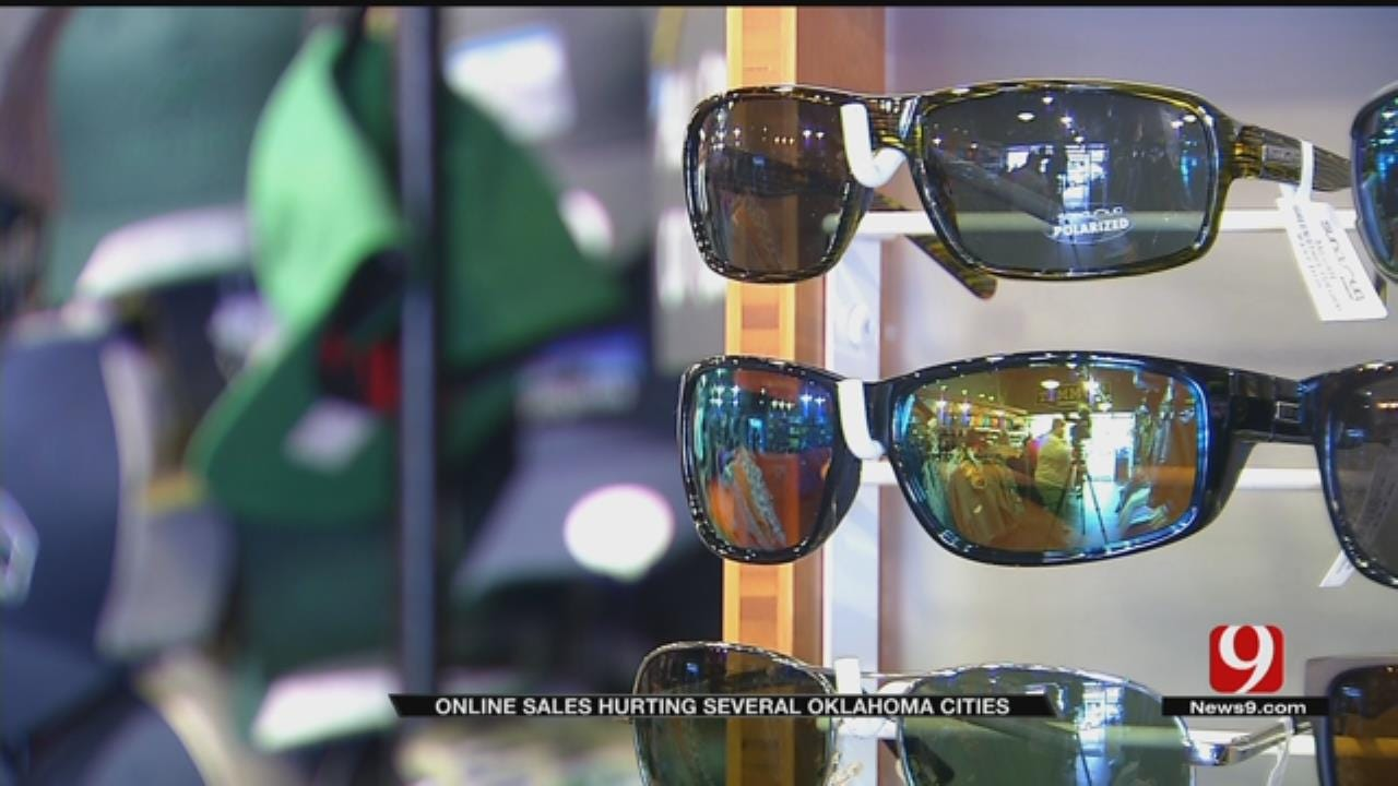 Online Sales Hurting Several Oklahoma Cities