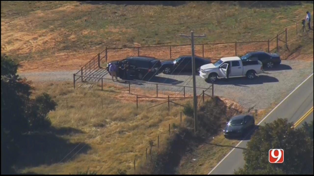 WEB EXTRA: SkyNews 9 Flies Over Scene Of K9 Officer Shooting