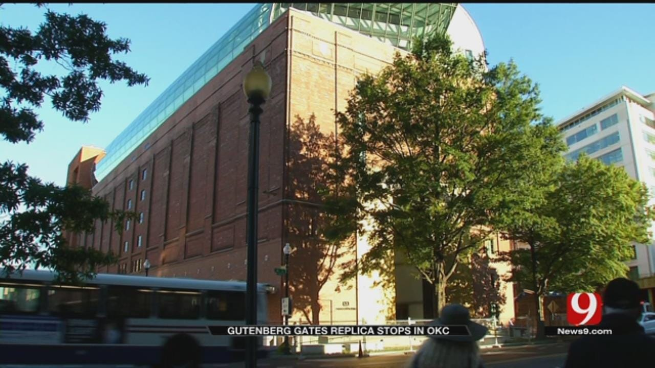 Crowds Come Out For Final Day Of Gutenberg Gates Exhibit In OKC