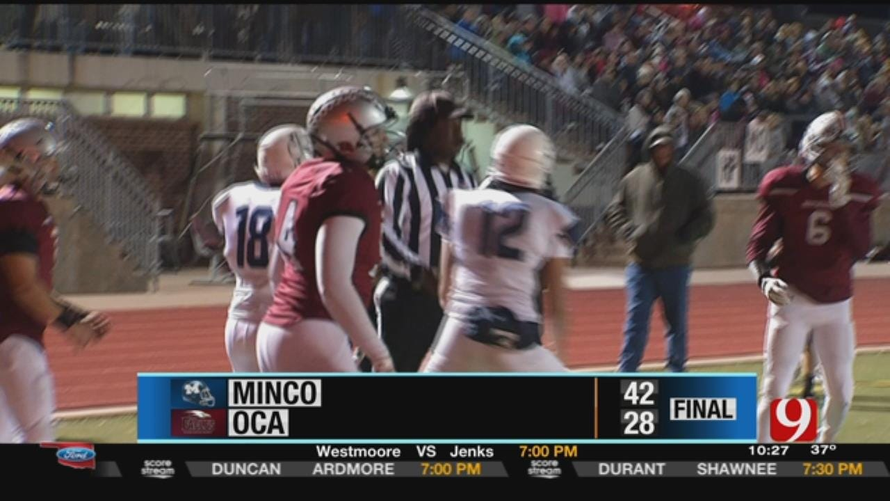 Minco 42 at Oklahoma Christian Academy 28