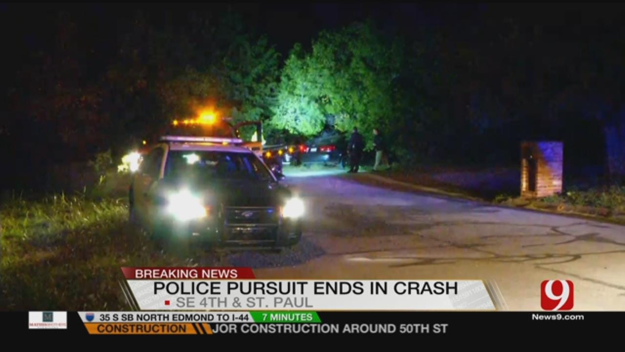 One Arrested After MWC Police Chase