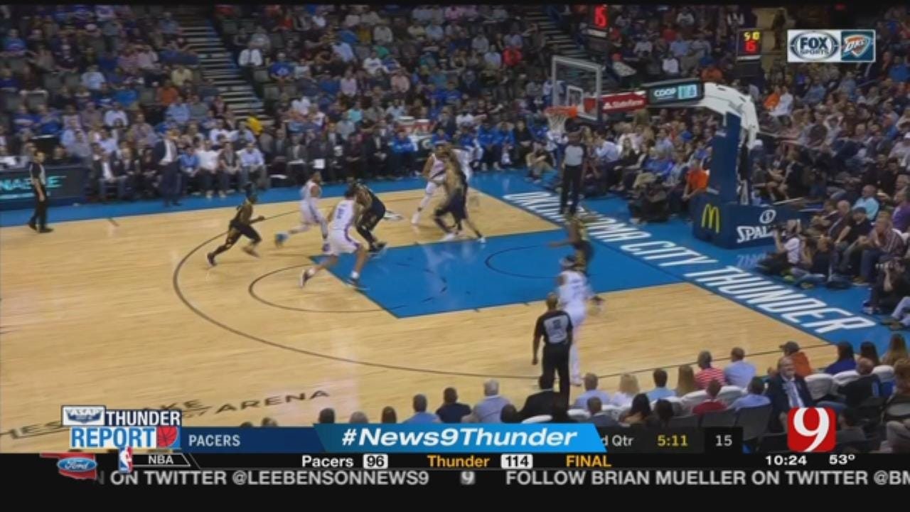 Russ Nets Triple-Double; Melo, Adams With Double-Doubles In Win Over Pacers