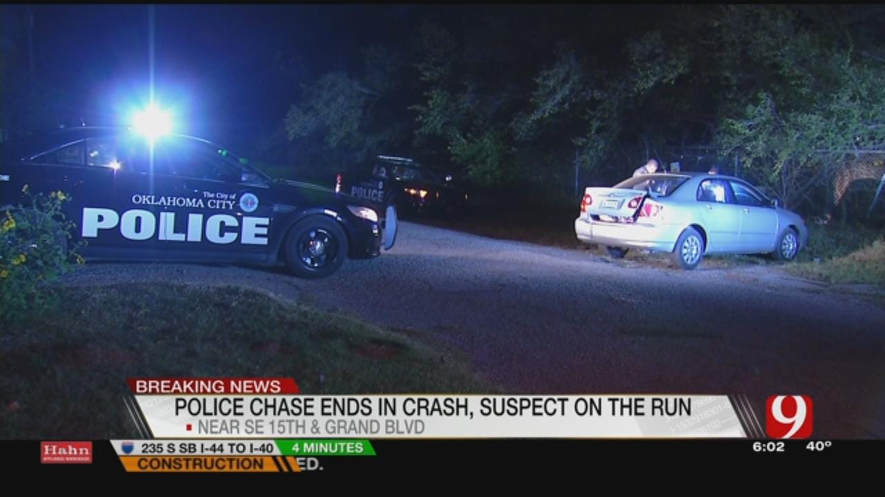 Police Chase In SE OKC Ends With Crash