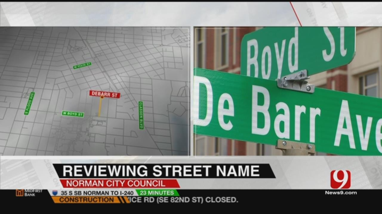 City Council To Discuss Changing Name Of Norman Street