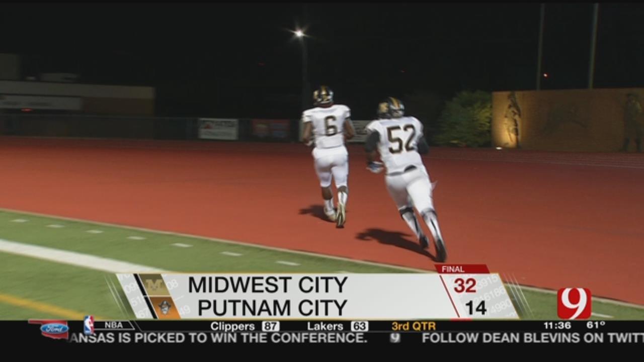 Midwest City 32 at Putnam City 12