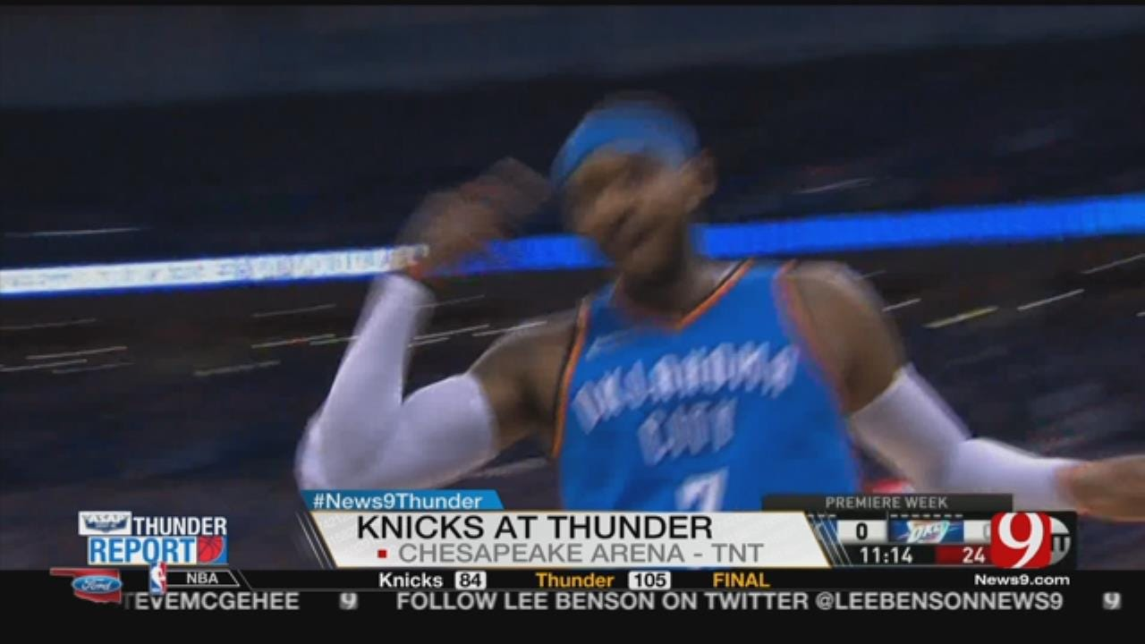 Thunder Top Knicks 105-84 In Debuts For George, Anthony