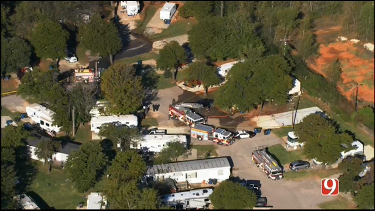 WEB EXTRA: SkyNews 9 Flies Over Scene Of Deadly MWC Mobile Home Fire