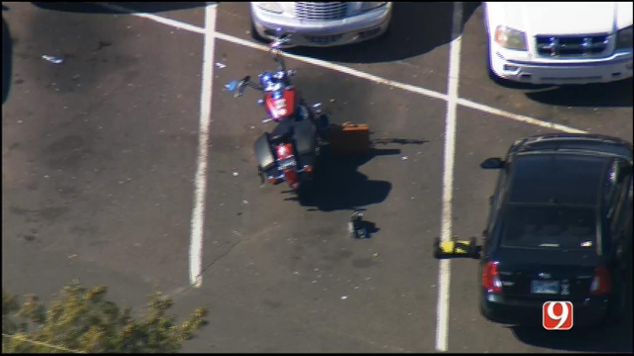 WEB EXTRA: SkyNews 9 Flies Over Suspicious Package Investigation AT SW OKC Walmart