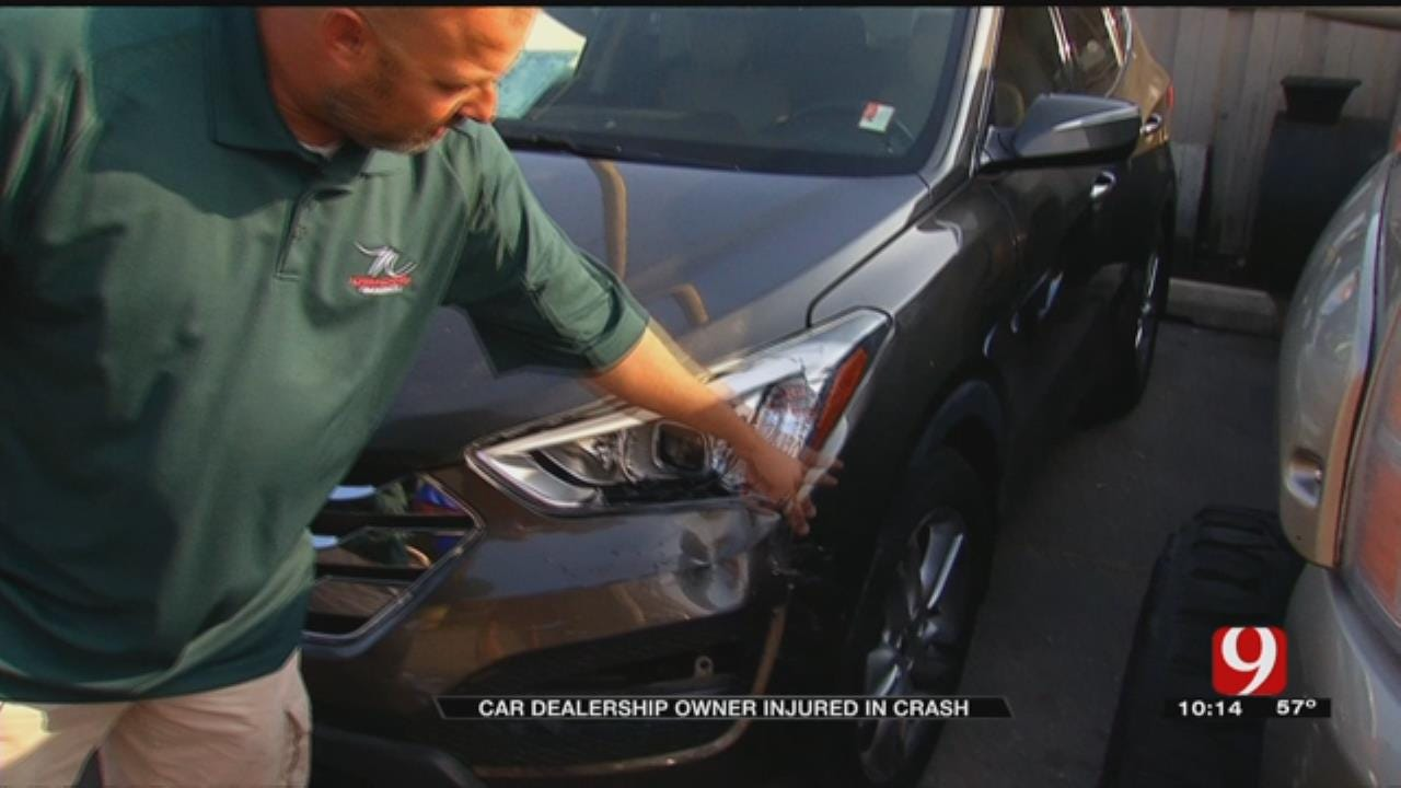 Car Crashes Into Dealership