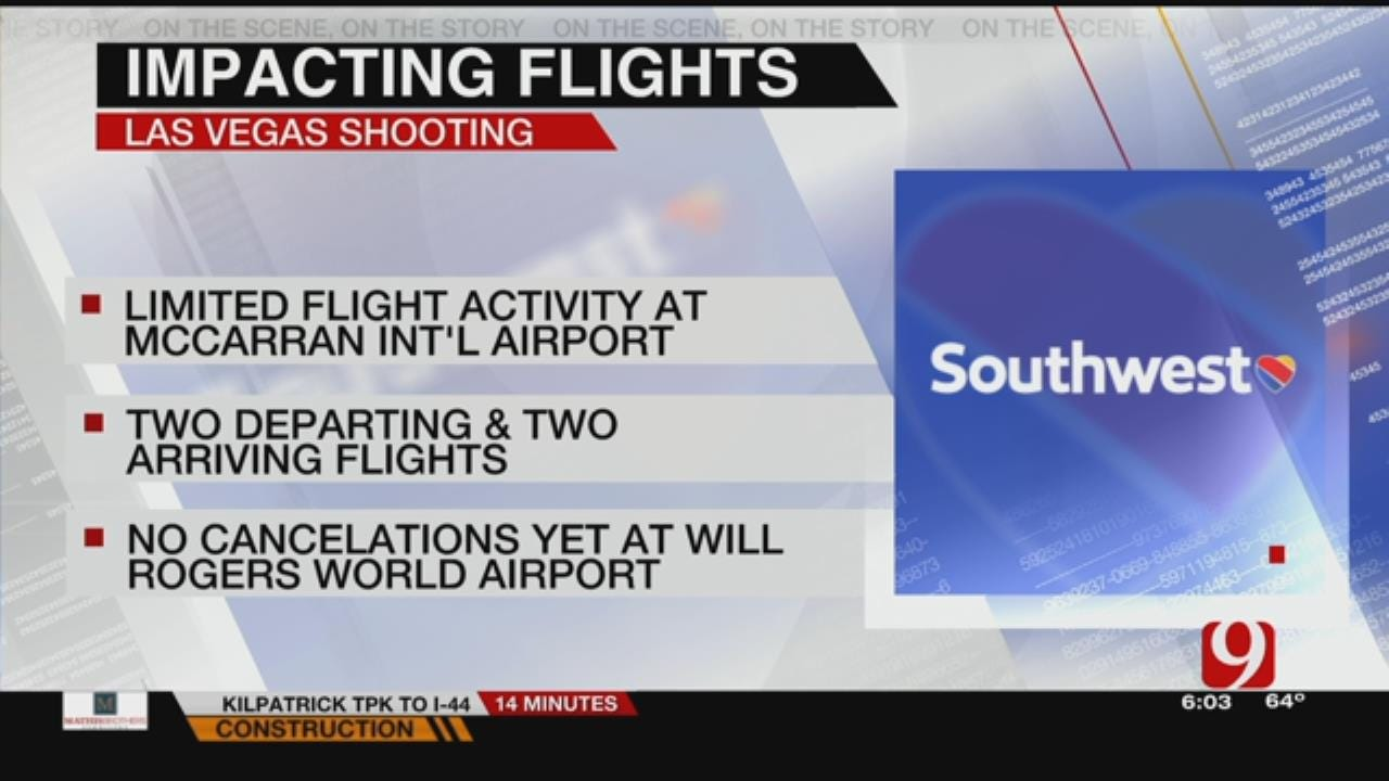 Flights Temporarily Halted In Las Vegas After Mass Shooting