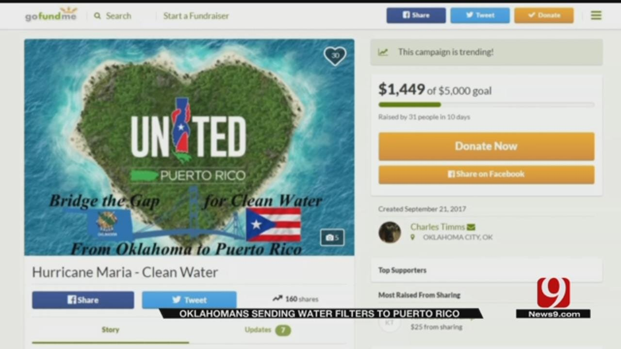 OKC Couple Collects Water Filters For Puerto Rico Hurricane Relief